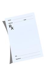 An empty prescription pad stationery
