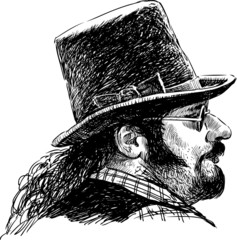 man in a hat