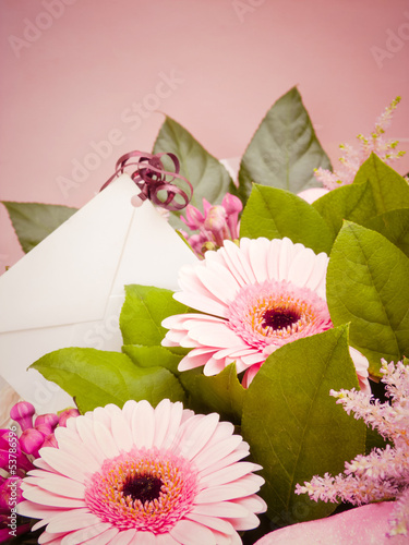 Bouquet Flowers with Card