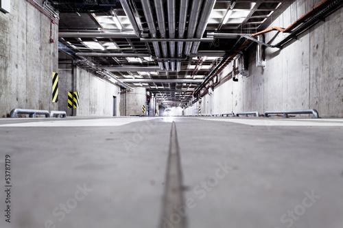 Car in parking garage, underground interior - 53787179