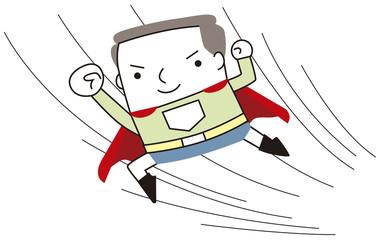 スーパーヒーローになった男性