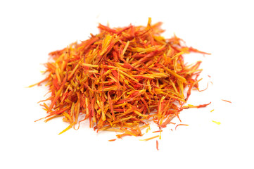 Safflower (Substitute for Saffron) Isolated on White Background