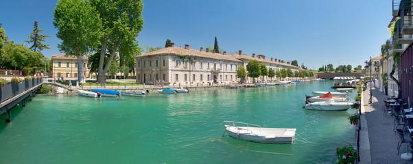 Peschiera del Garda, Italien, Mincio, Panorama