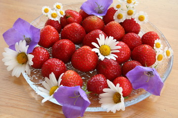 Swedish Midsummer dessert - strawberries
