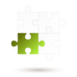 Puzzle - 4 Teile - grüne Option