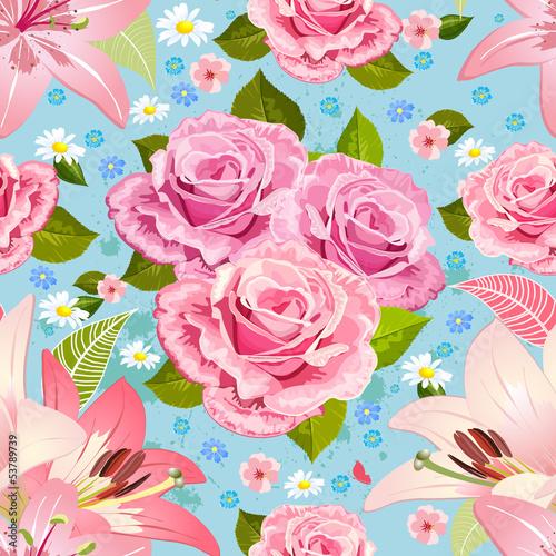 Beautiful floral seamless texture