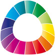 Farbkreis - Logo - Bogen unten