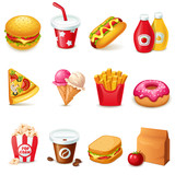 Fototapety Food icons