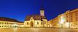 Zagreb church at night - St. Mark's