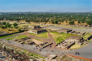 View at The Ruins from Pyramid of The Sun