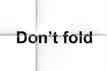 Don't fold (Text serie)