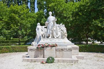 Monument for Sandor Petofi in Bratislava, Slovakia