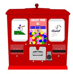 baseball card vending machine