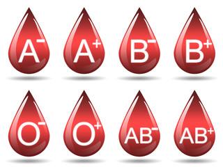Ilustração - Diferentes tipos de sangue