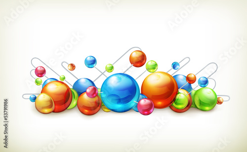 Molecules and atoms, illustration