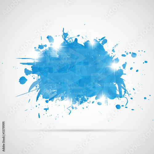 Papiers peints Forme Abstract background with blue paint splashes.