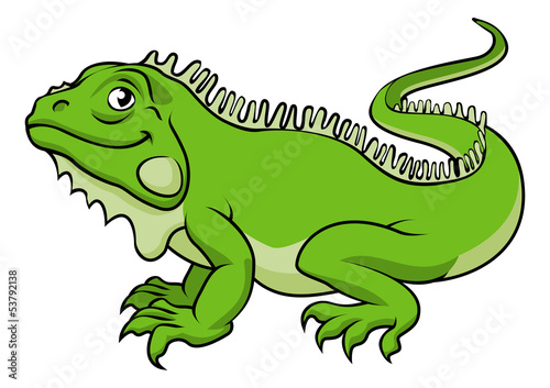 Cartoon Iguana Lizard