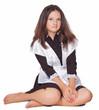 schoolgirl sitting