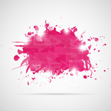 Fototapety Abstract background with pink paint splashes.