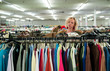 shoe browsing in a thrift store