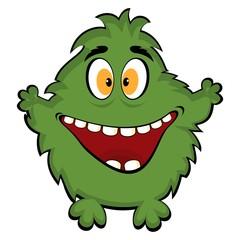 Friendly monster. vector funny monster.