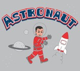 astronaut guy red funny