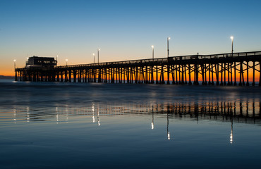 newport beach pier sunset