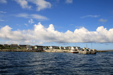 Inisheer village and harbour, Aran islands