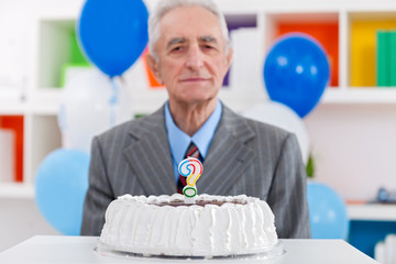 Senior man does not know how old
