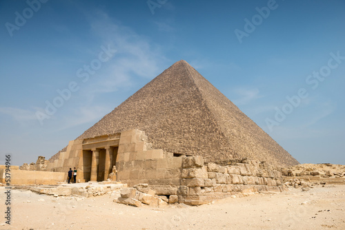 Pyramid of Khufu (Cheops) in Great pyramids complex in Giza