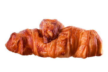 Delicious croissant isolated on white background