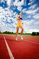 young woman exercise jogging and running