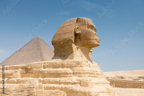 The Sphinx and Pyramid of Khafre
