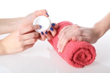 Hands moisturizing