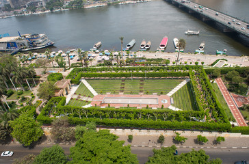 View of Nile embankment in Cairo