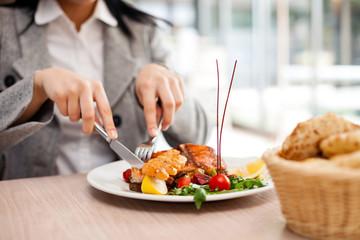 Dinner at restaurant.