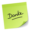 "Green Stick Note ""Danke"""