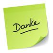 "Green Stick Note ""Danke"""