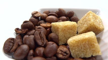 caffe beans and brown sugar presentation