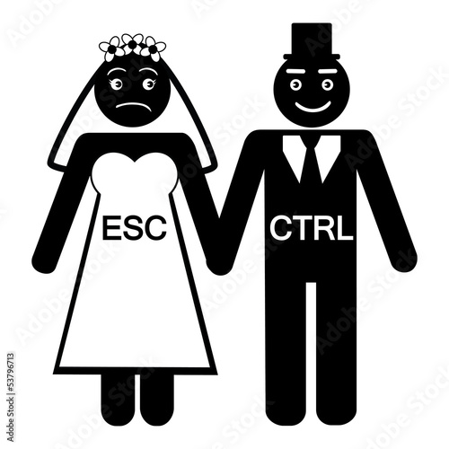 Humorius bride ESC groom CTRL icon