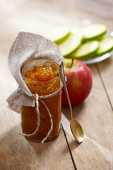 jar of apple jam