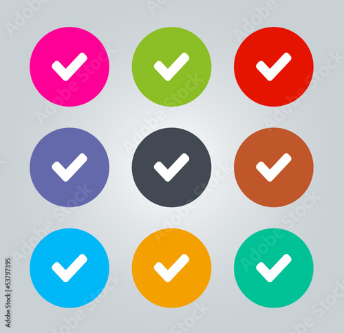 Check - Metro clear circular Icons