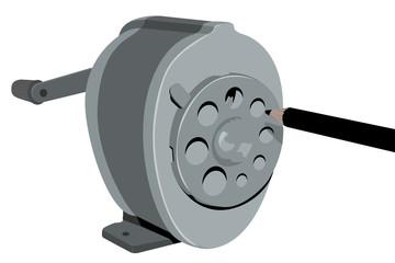 Retro Sharpener (illustration)