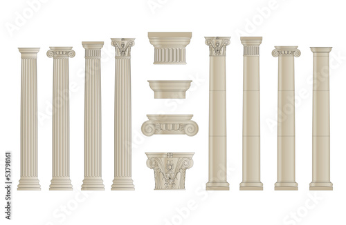 set of classic columns