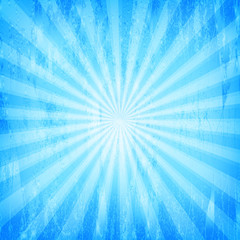 Sunburst Grunge Blue Pattern