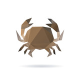 Crab abstract isolated on a white backgrounds