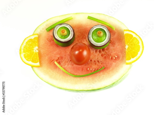 Fruity smile, isolated