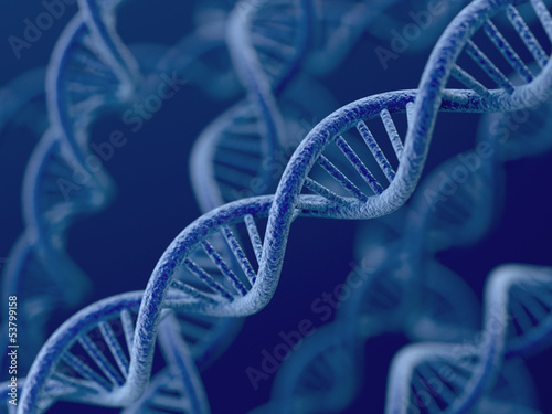 DNA on blue background