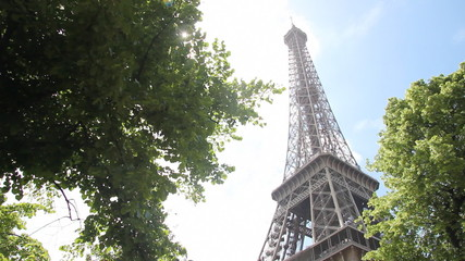 The Eiffel Tower and Sunlight, Paris France