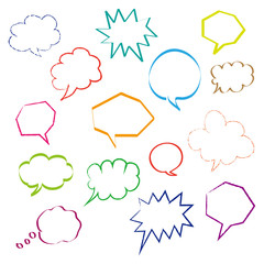 dialog bubbles set